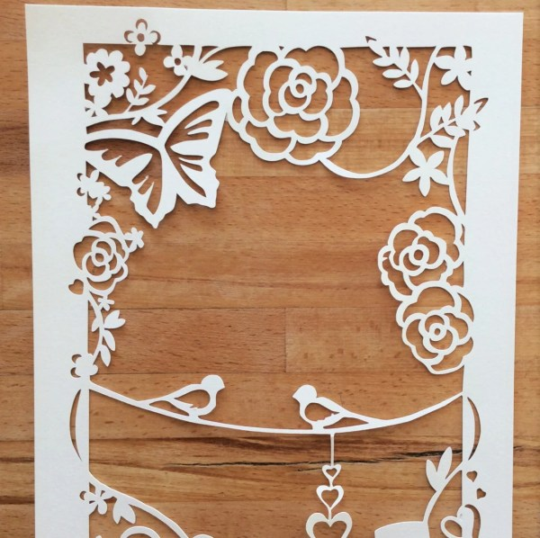 Wedding Annerversary Papercut Template Svg Cutting File