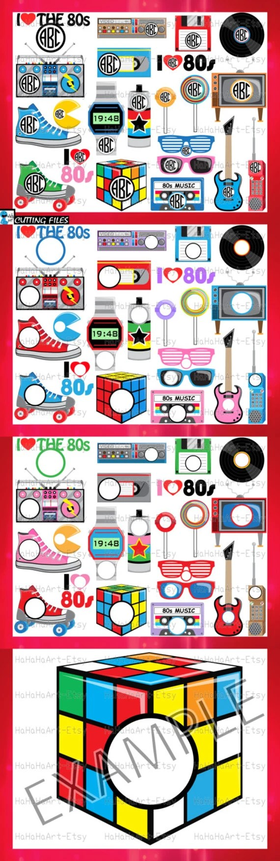 Download Circle 1980s I Love The 80s v2 Cutting Files Svg Png Jpg