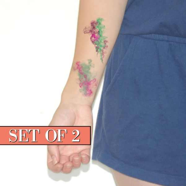 watercolor temporary tattoos