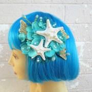 starfish hair clipteal