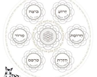 Hanukkah Prayers-Menorah Printable-Hanukiah by zebratoys