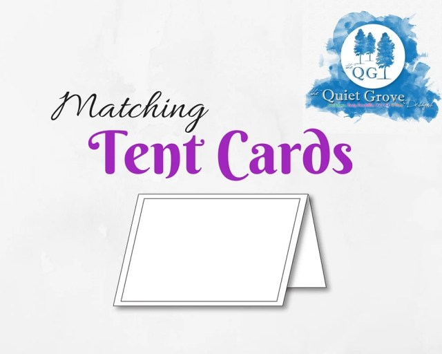 Matching TENT CARDS -A-La...
