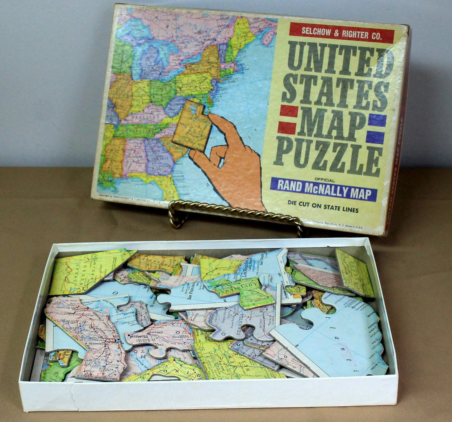 United States Jigsaw Puzzle Official Rand Mcnally Map 63