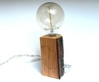 Bedside lamp Edison lamp wood design lamp rustic lamp by ...