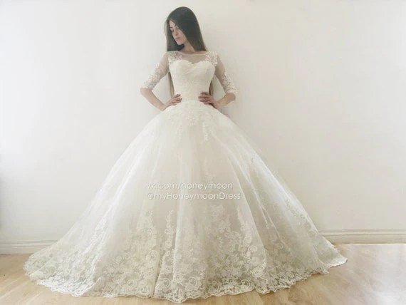 Ricco Wedding Dress Ball Gown Wedding Dress Long Tail
