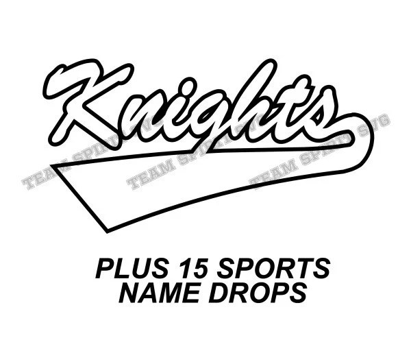 Knights Swoosh Download Files SVG DXF EPS Silhouette