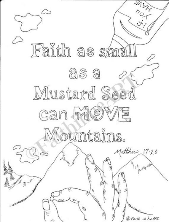 Hand-Drawn Matthew 17:20
