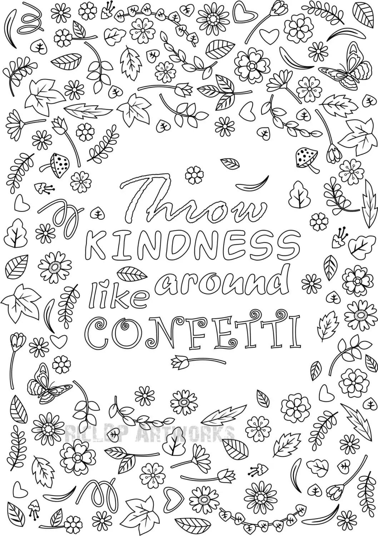 Printable Throw Kindness Around Like Confetti