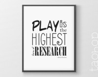 Play is the highest | Etsy