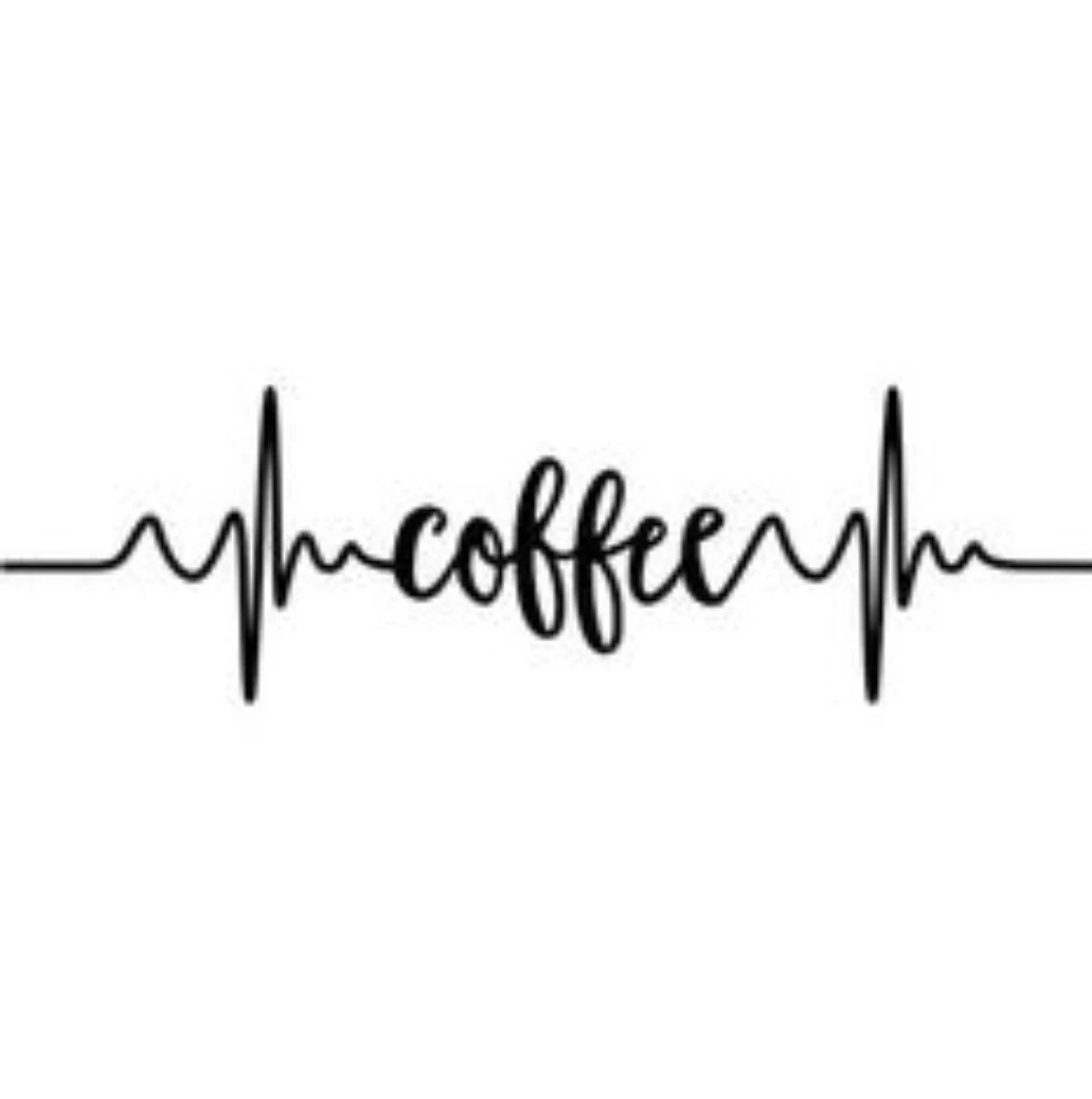 Coffee Pulse Decal wall art indoor use laptop sticker wall