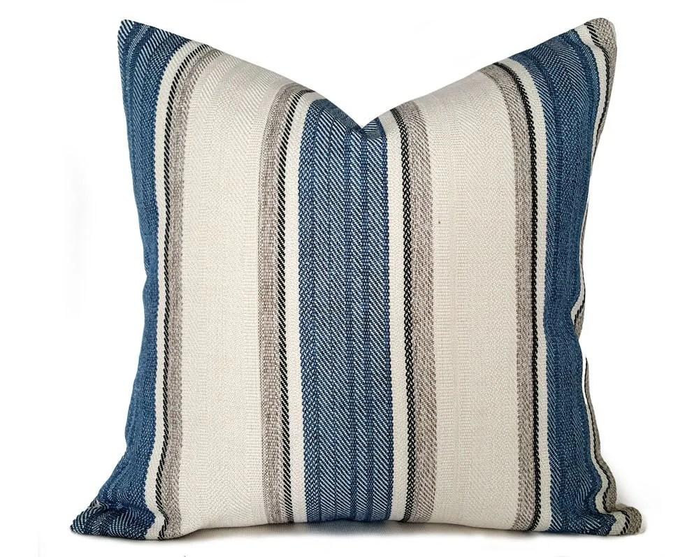 Blue Cream Throw Pillows Cream Blue Grey by PillowThrowDecor