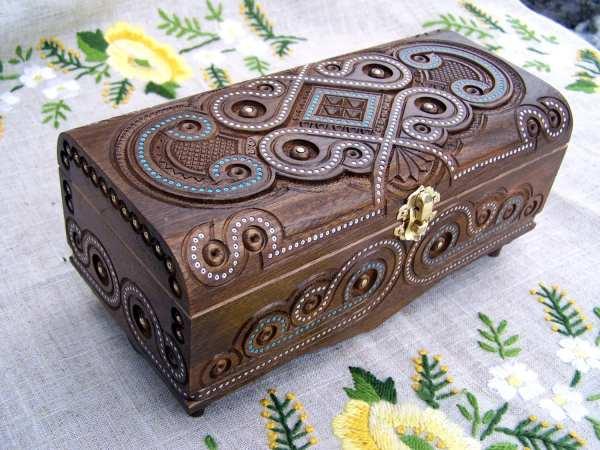 Personalized Wooden Jewelry Box