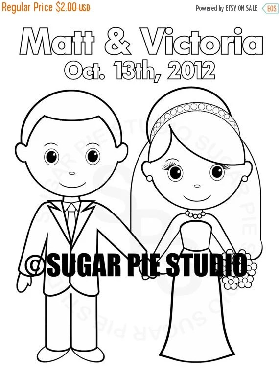 25% OFF SALE Personalized Printable Bride Groom by