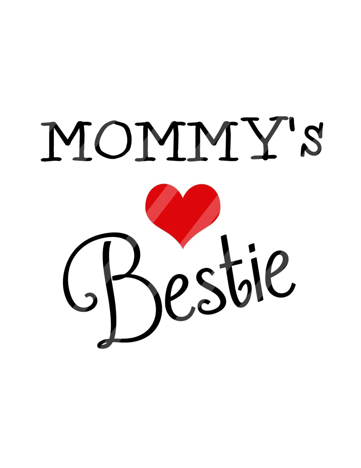 Mommy S Bestie Digital Download For Iron Ons Heat