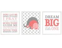 Elephant Nursery Wall Art Now I Lay Me Down To Sleep Quote