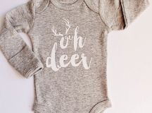 Boys Bodysuit Oh Deer Boys Clothes Newborn Bodysuit Baby