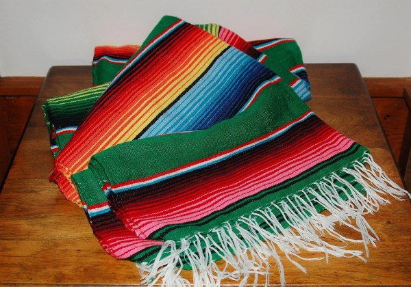 Mexican Serape Saltillo Western Style Blanket Throw Extra