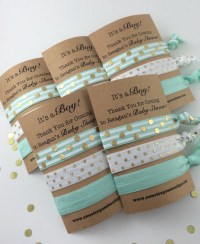 Baby boy shower favors baby boy shower hair tie favors baby