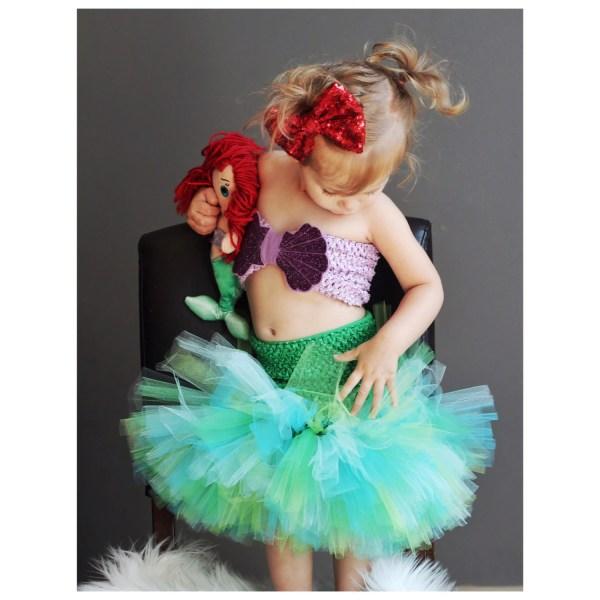 Mermaid Tutu Dress Costume 0-6 Years Purples