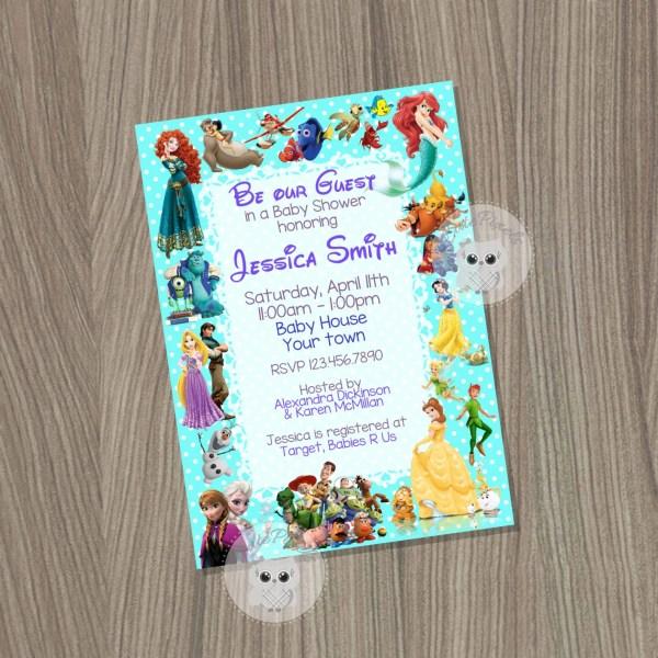 Baby Shower Invitation Disney