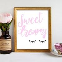 Sweet Dreams nursery decor gift ideas by LittleHeartsbysarah