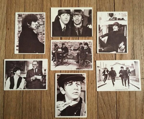 Beatles Trading Cards Set Of Seven Original