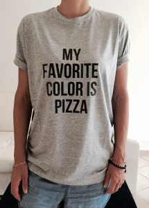 4ffc2c6d01 Favorite Color Pizza Shirt Funny T Shirts With Sayings - Year of ...