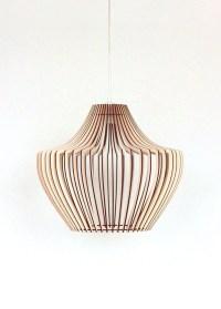 Wood Lamp / Wooden Lamp Shade / Hanging Lamp / Pendant ...