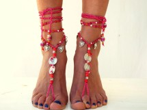 Water Mellon Barefoot Sandals Boho Shoes Jewelry