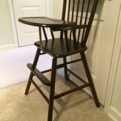 Antique Wooden High Chair Inflatable Outdoor Lounge Vintage Jenny Lind