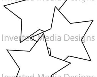 3 inch Circle zentangle bold outline .PDF file