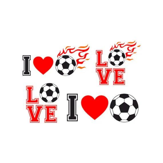 Download Soccer SVG i love soccer Clip art DXF EPS files Cut file