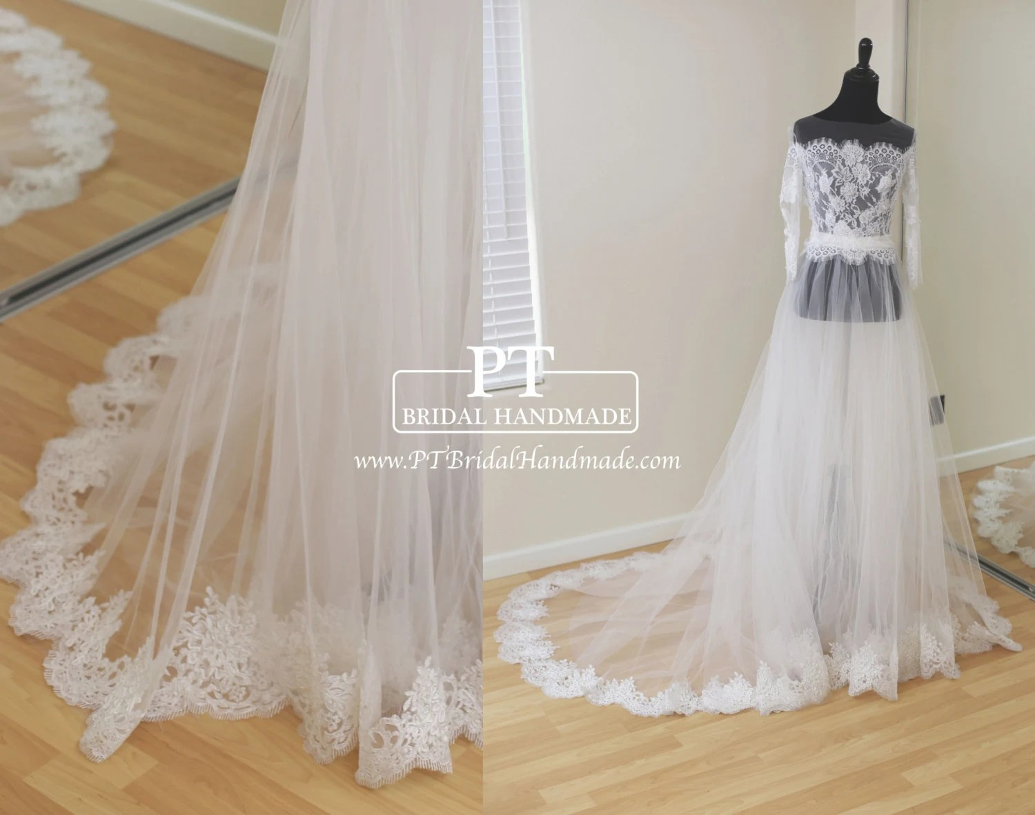 Detachable Bridal Skirt Ivory Tulle Wedding By