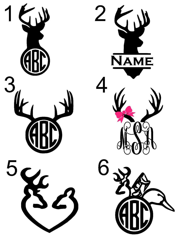 Hunting/Deer Antler Monogram