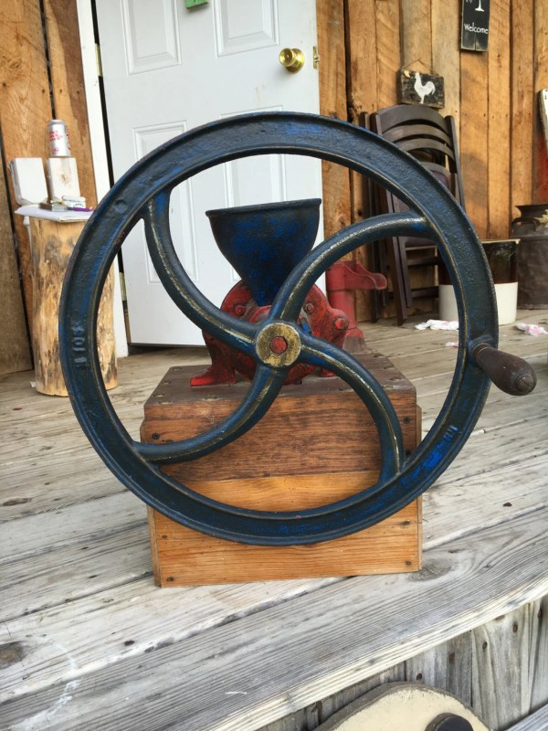 Antique Cast Iron Grain Mill Coffee Grinder H105 Hand Crank