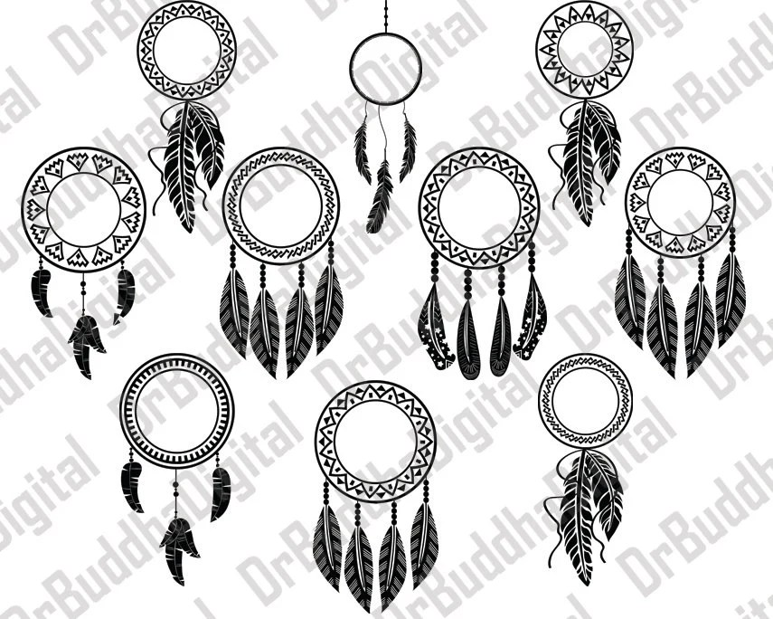 Sale! Dream Catcher Monogram Frame SVG Collection