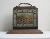 antique letter rack, vint...