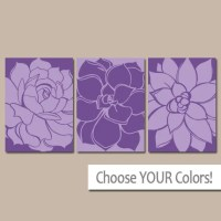 PURPLE Wall Art Matching Bedroom Pictures CANVAS or by ...