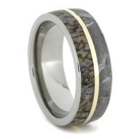 Meteorite Ring Dinosaur Bone Wedding Band With by ...