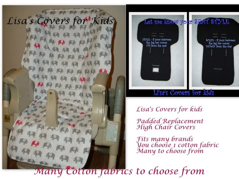 baby trend high chair cover replacement box style dining cushions padded reversible pick 1 cotton