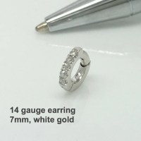 14 gauge cartilage diamond hoop earring diamond by ...