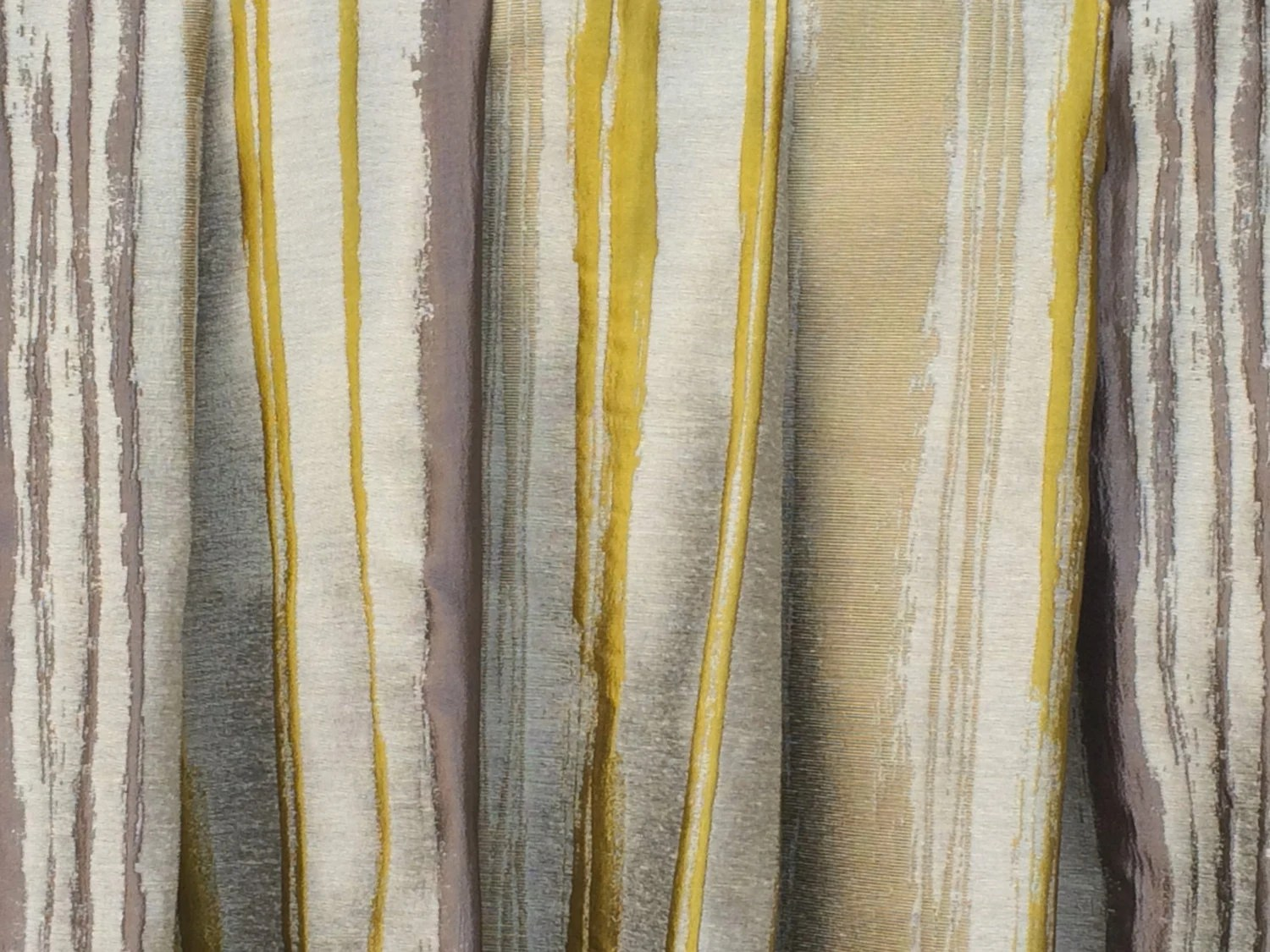 Chartreuse Stripes Curtain Drapes Custom Curtain Panels Window