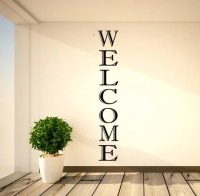 Vertical Welcome Vinyl Decal Welcome Vinyl Decals Foyer