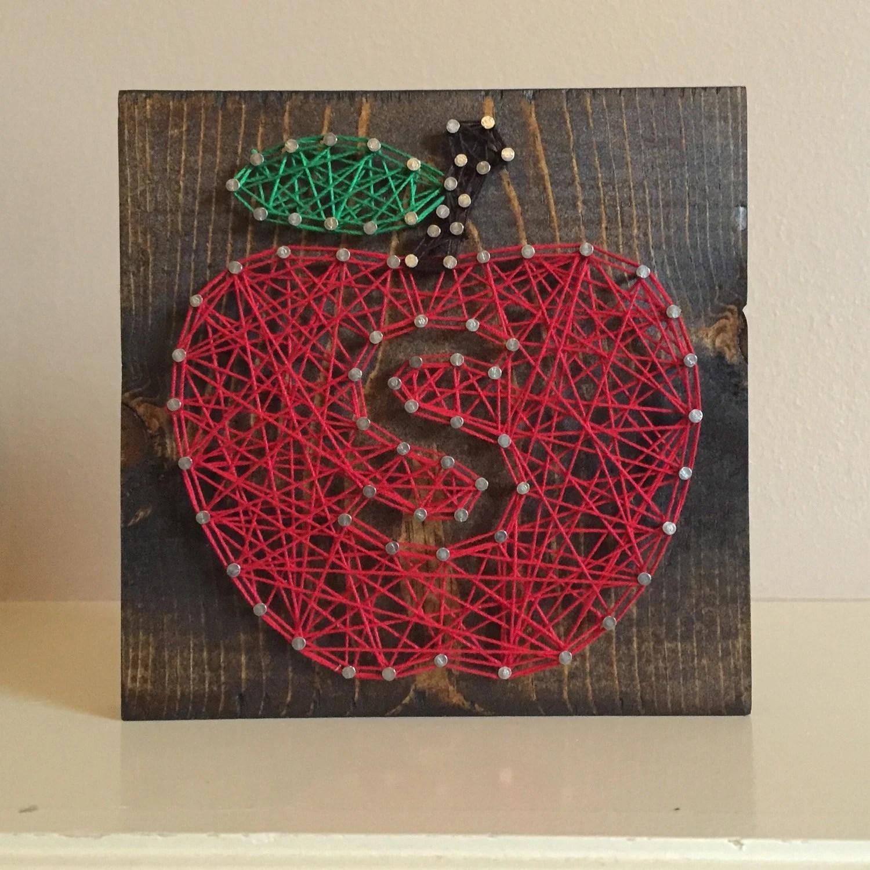 Teacher T Apple String Art