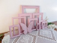 Pink Frame Set Rustic Shabby Chic Distressed Picture Photo ...