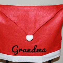 Christmas Chair Covers Zero Gravity Patio Canada Personalized Santa Hat Full Name Or