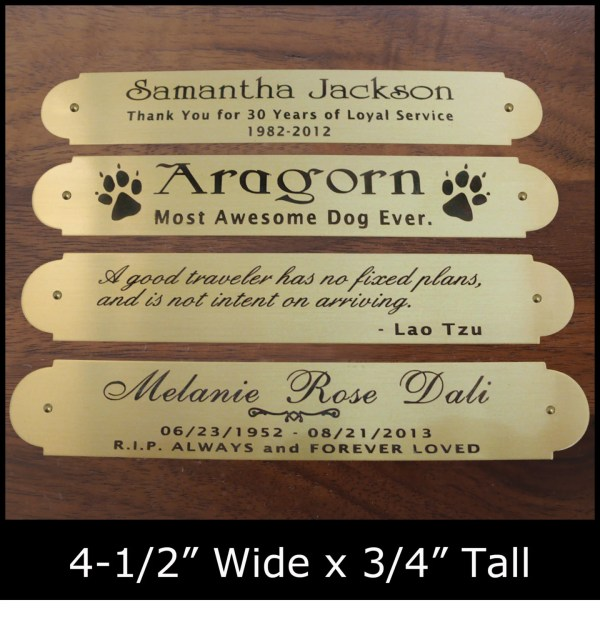 Engraved Solid Brass Plate Frame Art Label Tag 4