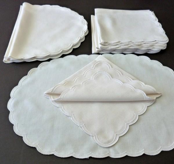 Vintage Linen Placemats and Napkins