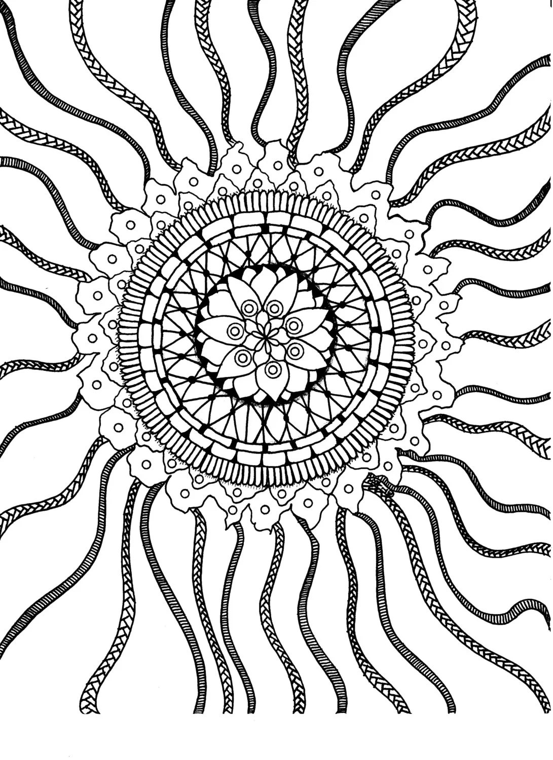Doodle coloring page from BeOneCreations on Etsy Studio
