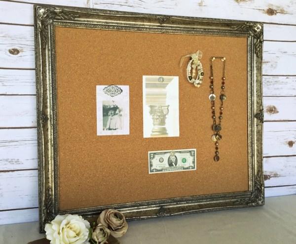 Large Framed Cork Bulletin Board